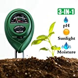 Diiker Soil pH Meter Soil test kit, 3-in-1 Soil Tester Can test Moisture, Light and pH for Garden,Lawn,Farm, Yard, Plants,Herbs,Gardening Tools Testing Indoor and Outdoors Plant (No Battery Needed) Review