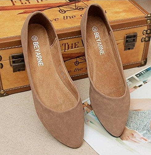 Aisun Womens Trendy Comfy Slip On Flat Loafers Apricot MASwSGSvi