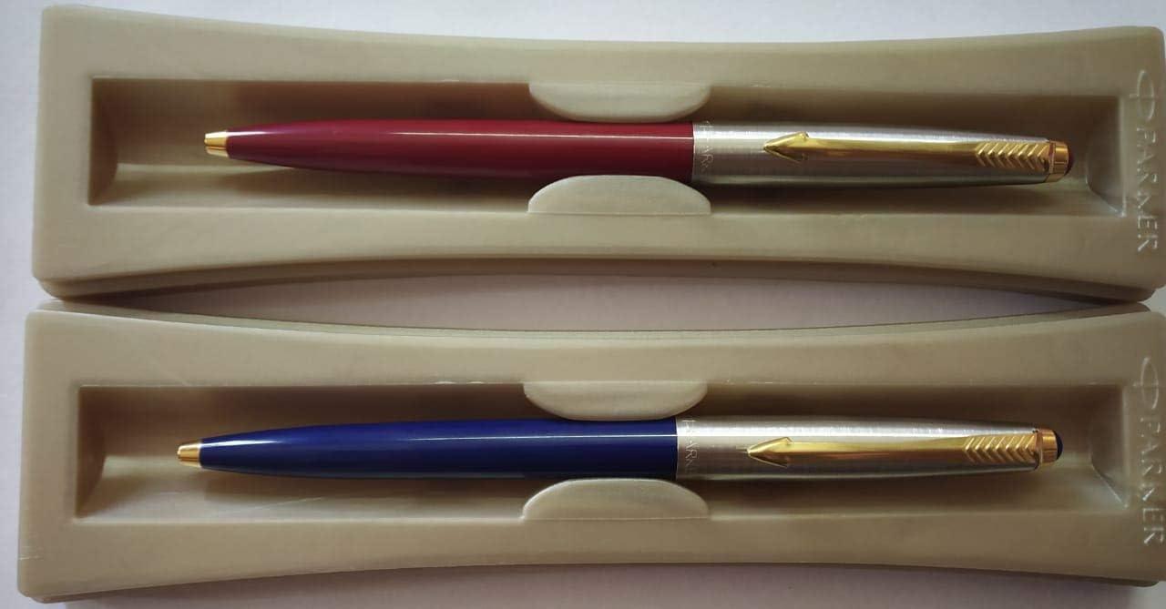 Blue Body 2 X Parker Galaxy Standard Jotter GT Ball Pen Blue Ink New New
