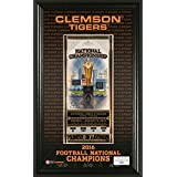 NCAA Clemson Tigers Highland Mint 2016 Football National Champions Ticket Pano Collection, Black