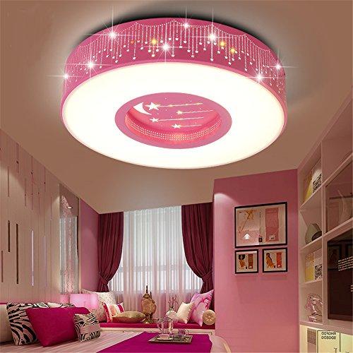 Malovecf Modern and Art Children's Room Meteor Round Ceiling Light for Boys and Girls, 40CM, 24W, White light (Pink) - Kid Meteor Kids Light