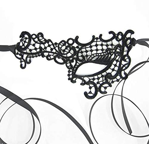 Venetian Half Face Black Lace Mask for Masquerade Prom Halloween Carnival Mask Ball ... -