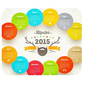 Computer Non-Slip Rubber Mouse Pad with Happy New Year 2015 Calendar logo