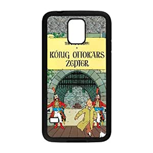 Samsung Galaxy S5 phone cases Black TinTin cartoon Phone cover GWJ6325003