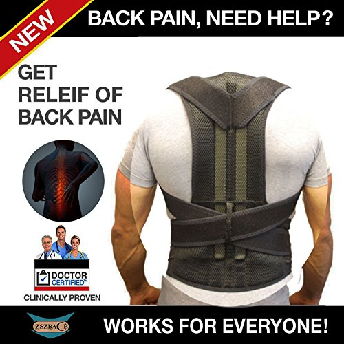 Back Brace Waist Support Belt Helps Relieve Lower Back Pain Round Shoulder Sciatica