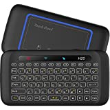 [2018 Updated Version Backlit] EVANPO Wireless Mini Keyboard with Full Screen Mouse Touchpad Rechargeable Combos Remote Control for PC, Pad, Google Android TV Box and More