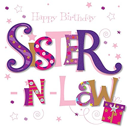 Amazon Talking Pictures Sister In Law Happy Birthday Greeting