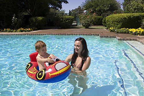 Poolmaster Learn-to-Swim Baby Swimming Pool Float Rider, Fire - Truck Rider Fire
