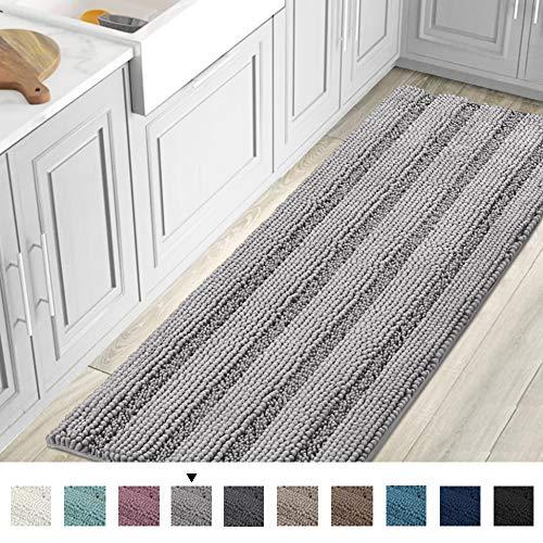 59x20 inch Oversize Non-Slip Bathroom Rug Shag Shower Mat Soft Thick Floor Mat Machine-Washable Bath...