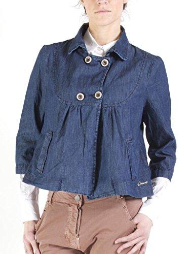 Taille Foncé 3 101 4 451 Pour En Femme Jeans Normale Bleu Lavage Marinière Manches Style Carrera Veste Jean wTzzfq