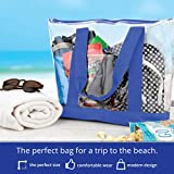 Bags for Less Large Clear Vinyl Tote Bags Shoulder