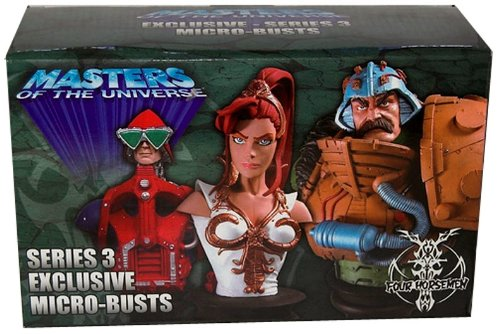 SDCC 2006 Exclusive Motu Masters of the Universe Series 3 Micro-Busts By the Four Horsemen Limited to Only 2500 World Wide! Contains Teela, Mekanek and Man-at-arms