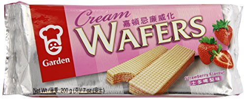 Cream Wafers (Garden Strawberry Cream Wafers, 7-Ounce (Pack of 8))