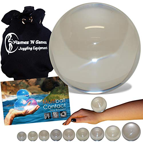 Flames N Games Acrylic Contact Ball + Multiball Contact Book + Suede Bag - Pro Contact Balls & Book for All Abilities and Ages! (Clear Acrylic 120mm + Book + Bag, 120mm) by Flames N Games (Image #10)