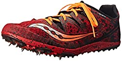 Saucony Men's Carrera XC Cross Country Racing Shoe, Red/Orange, 11 M US