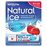 Mentholatum Natural Ice Lip Protectant SPF 15, Cherry Flavor, 0.16-Ounce Tubes (Pack of 12)
