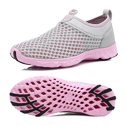 Wonder Pretty Walking Shoes Air Mesh Lightweight Running Gear Quick Dry Aqua Slip on Water Shoes for Women Men