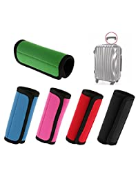 BlueBeach Pack of 5 Soft Neoprene Travel Luggage Handle Wrap Grips for Suitcase Bags Duffels