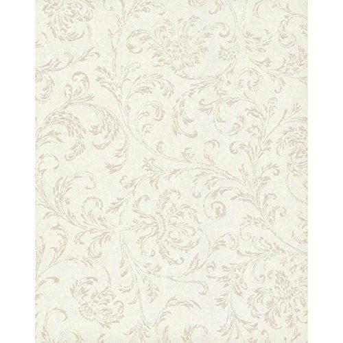 York Wallcoverings TN0036 Delicate Scroll Wallpaper Whites (Scroll Wallpaper White)