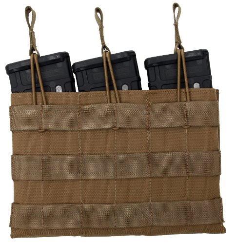 Tactical Tailor Fight Light 5.56 30-Round Triple Mag Panel, Coyote Brown
