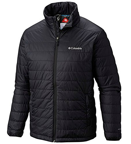Mens Puffer (Columbia Mens Crested Butte II Omni-Heat Jacket, BLACK (L))
