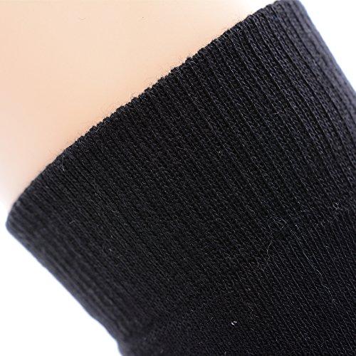 Outdoor Hiking Socks, MEIKAN Hiker Boot Sock Full Cushion Winter Activity Socks Keep Feet Dry & Cool for Men Youth 4 Pairs, Black by MEIKAN (Image #3)