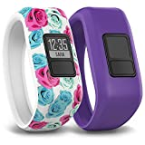 Electronics : Garmin Vivofit Jr. Tracker with 2 Bands, Flower and Purple