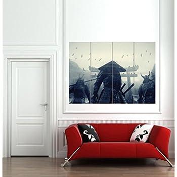 japanese couch designs amazoncom asian warriors samurai japan japanese giant wall art