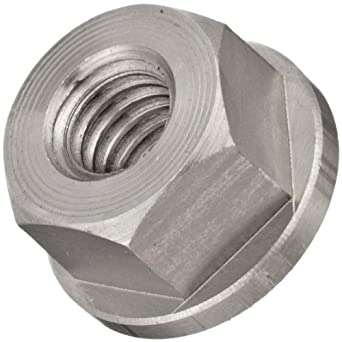 """Stainless Steel Hex Nut, Black Oxide Finish, Grade 8, Right Hand Threads, Class 2B 3/8""""-16 Threads, 1/2"""" Height, Made in US"""