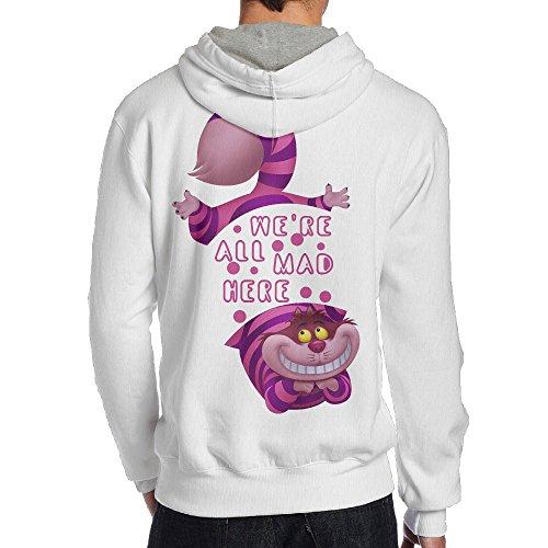 Tim Costumes Burton Cheshire Cat (UFBDJF20 Alice In Wonderland Cheshire Cat We Hooded Sweatshirt For Men M)