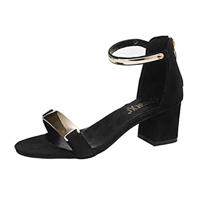 610a02adb VEMOW 2018 Spring Summer Sandals for Teen Girls Sexy Fashion Women Ladies  Sandals Ankle High Heels Block Party Open Toe Shoes Ladies Girls School  Sport ...