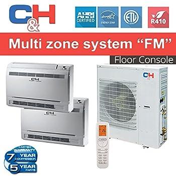 C&H +Multi Dual-zone System with Console 24,000 BTU Inverter Heat Pump (12K+18K CONSOLE)
