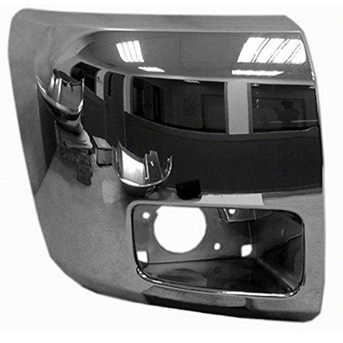HEADLIGHTSDEPOT Fog Light Compatible with Chevrolet Silverado 1500 Passenger Side Front Bumper End