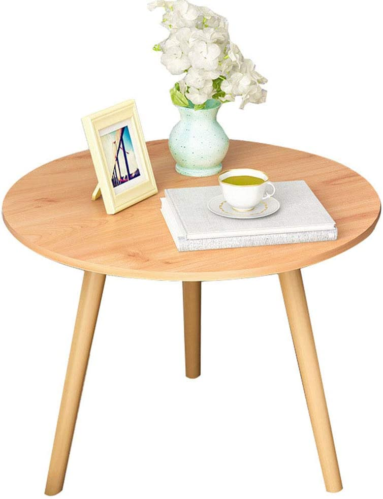 Amazon Com Modern Round Sofa Side Table End Tables Thick Panel