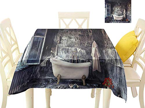 - Davishouse Elegant Waterproof Spillproof Polyester Fabric Table Cover Flower Bouquet in Vase for Kitchen Dinning Tabletop Decoration W54 x L54