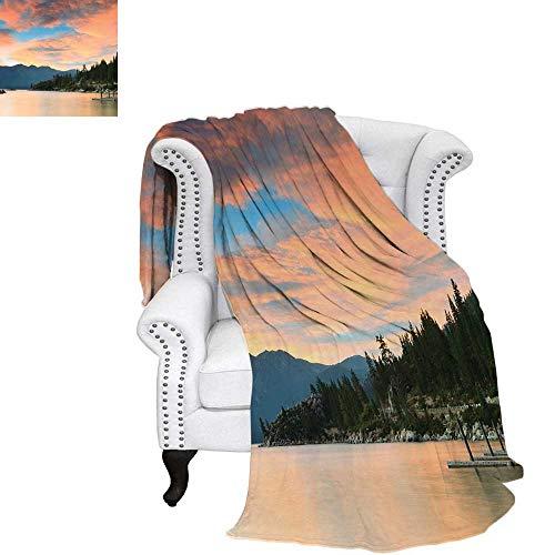 LakeFlannel Single Student blanketRomantic Sunset at Lake Tahoe Peaceful Shoreline Sierra Nevada United StatesStudent Blanket 80