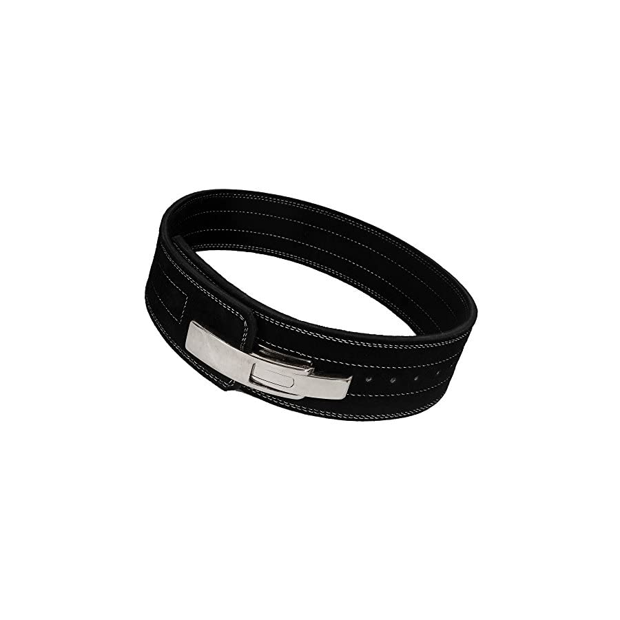 ARD CHAMPS10MM Weight Power Lifting Leather Lever Pro Belt Gym Training Black