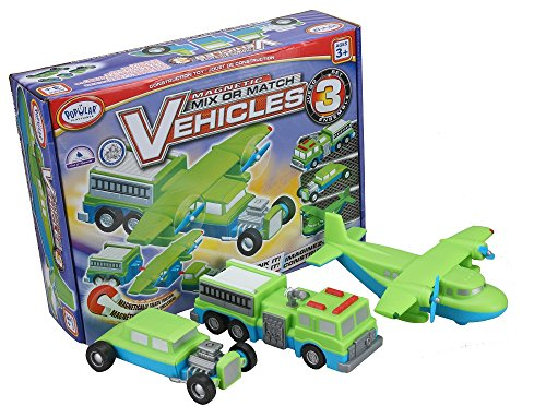 (Popular Playthings 60303 Mix or Match Vehicles 3 Building Kit)