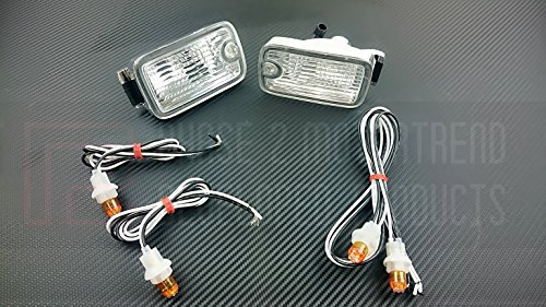- P2M JDM Nissan 180SX Type-X Dual Post LED Front Position Lights P2-N180FCL02-JY