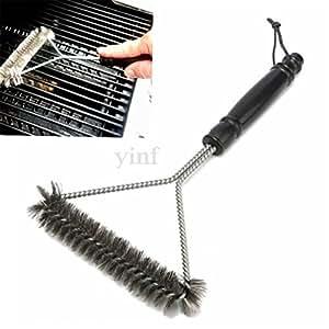 lalang Acero Inoxidable Barbacoa cepillos, 30cm,–Cepillo para barbacoa grill Cepillo de limpieza