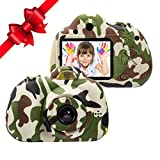Kids Camera Gift for 3-10 Years Old Boys/Girls, Shockproof Cameras with Front Camera Video for Kids...