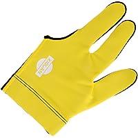Generic Yellow Snooker Billiard Cue Glove Pool Left Hand Three Finger Mitt Accessory