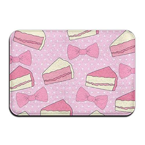 Door Floor Mat Area Rug Anti-Skid Foot Pad Pink Cake Absorption Doormats For Home Indoor Outdoor Kitchen Bathroom Entry Clean -