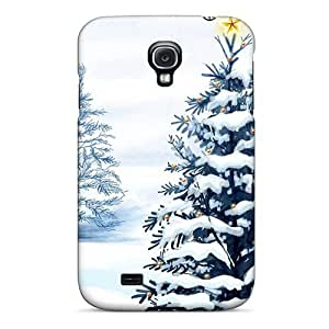 Tpu Fashionable Design Wintery Holiday Rugged Case Cover For Galaxy S4 New