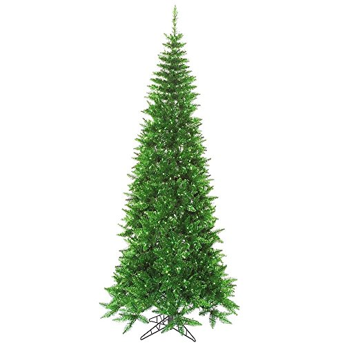 Artificial Christmas Tree. Fake 7.5 Foot Xmas Flocked Natural Tinsel Green Slim Pine. It's Classic Fir Shape Looks Neat & Natural, Snow-flocked Branches. Perfectly-shaped. Holiday Season Party Decor. by Artificial-Christmas-Tree
