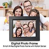 Digital Photo Frame, Wireless Mouse Control, 8 inch LCD Wi-Fi Cloud Digital Rahmen Photo Viewer with Motion Sensor & 720p HD Video & Music Playback, INSMA
