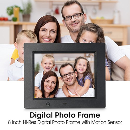 Digital Photo Frame, Mother's Day Gifts Wireless Mouse Control, 8 inch LCD Wi-Fi Cloud Digital Rahmen Photo Viewer with Motion Sensor & 720p HD Video & Music Playback, INSMA