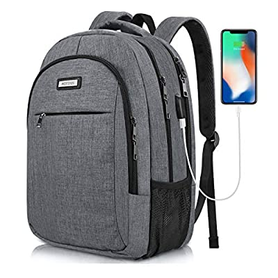 Travel Laptop Backpack 15.6 Inch Waterproof for Men & Women, Business Anti Theft Computer Backpack Work Daypack Padded with USB Charging Port, Fashion College Bookbag Rucksack