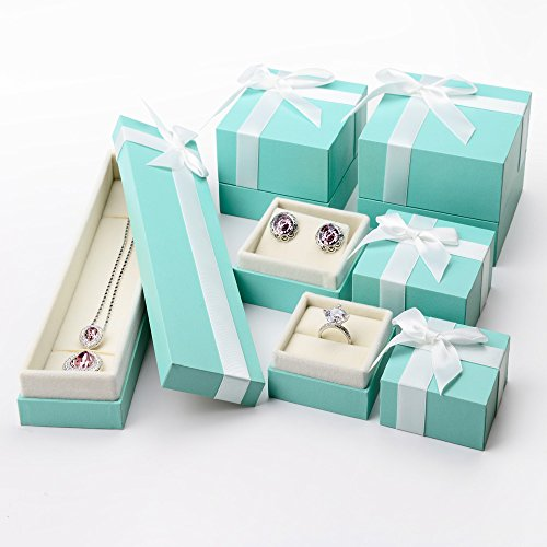 Oirlv Velvet Bow-knot Long chain Necklace Storage Box Jewelry Packaging Gift Box Showcase Display by Oirlv (Image #5)
