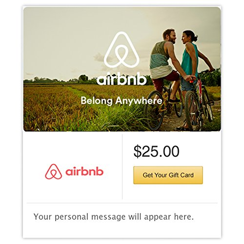 Airbnb Bikes Gift Cards - E-mail Delivery (Unique Delivery Gifts)